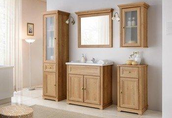 Klasyczne meble łazienkowe Palace dąb 80 cm