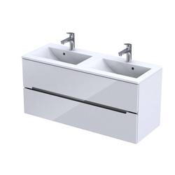 Oristo Szafka pod umywalkę 120 cm Silver biała podwójna