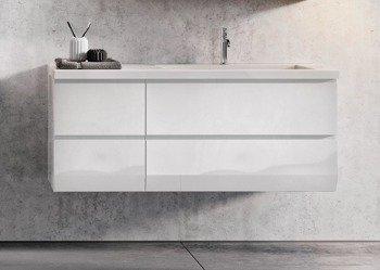 Oristo Szafki z umywalką 125 cm BRYLANT biała P