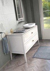 Oristo Zestaw mebli łazienkowych MONTEBIANCO 120 cm biały z lustrem