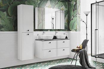 Zestaw mebli łazienkowych 120 cm Havana White umywalki nablatowe