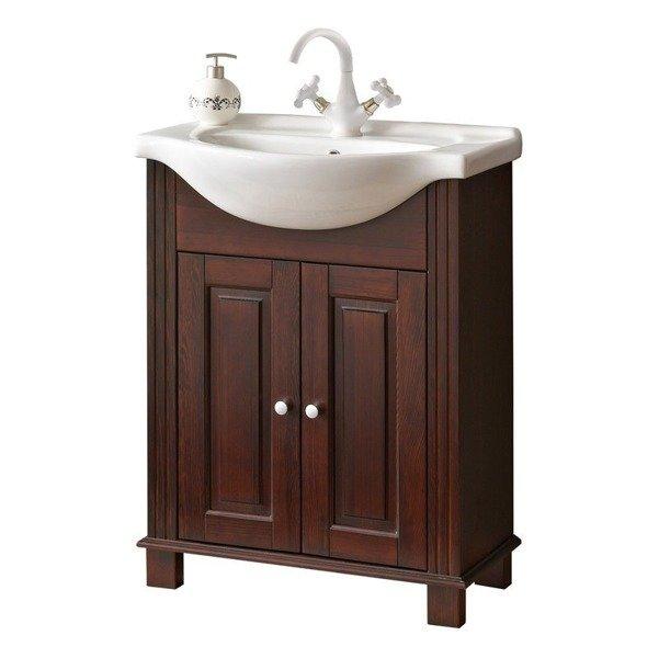 Drewniana szafka z umywalką 65cm Retro