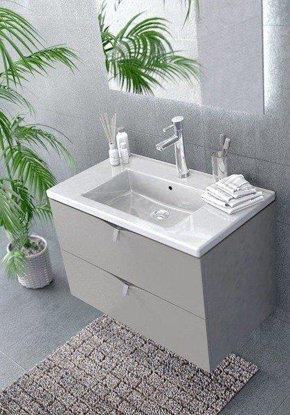 Oristo Szafka z umywalką 120 cm SIENA biały połysk