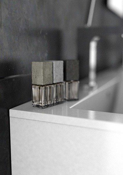 Oristo Szafka z umywalką 90 cm Silver szary mat