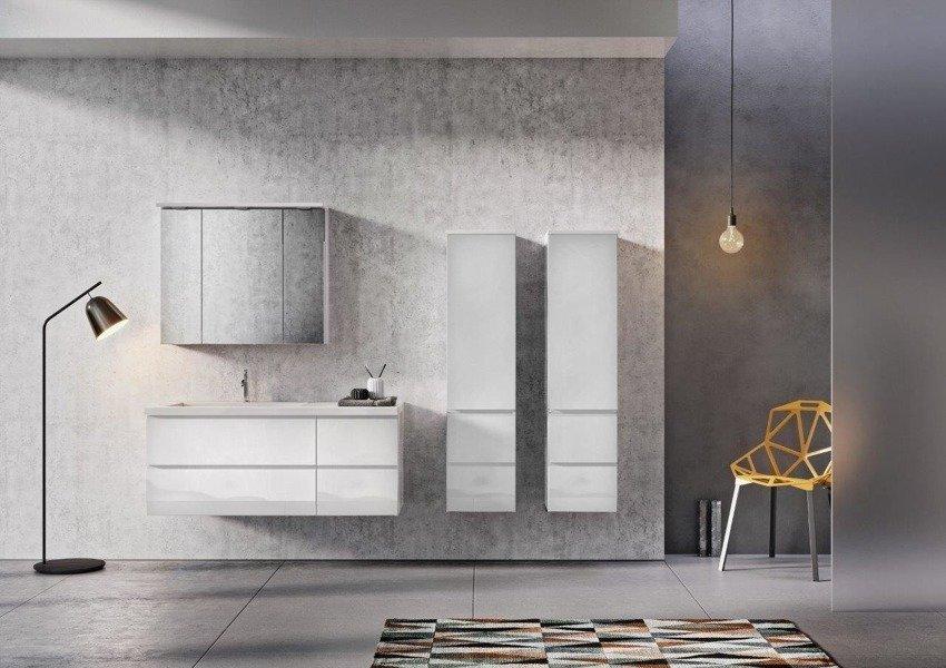 Oristo Szafki pod umywalkę 125 cm BRYLANT grafitowe L