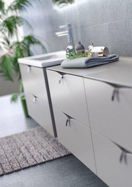 Oristo Zestaw mebli łazienkowych 60 cm SIENA dąb czarny + ciepły szary mat