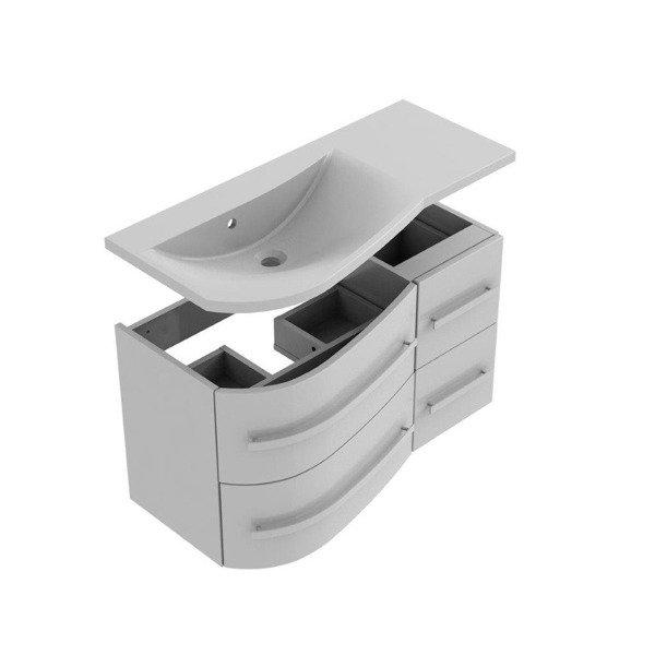 Oristo Zestaw mebli łazienkowych 90 cm OPAL szary lewy