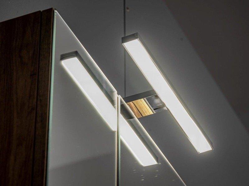 Szafka wisząca z lustrem i oświetleniem Capri dąb 842