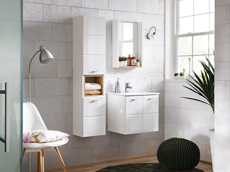 Szafka z umywalką 50 cm Finka White