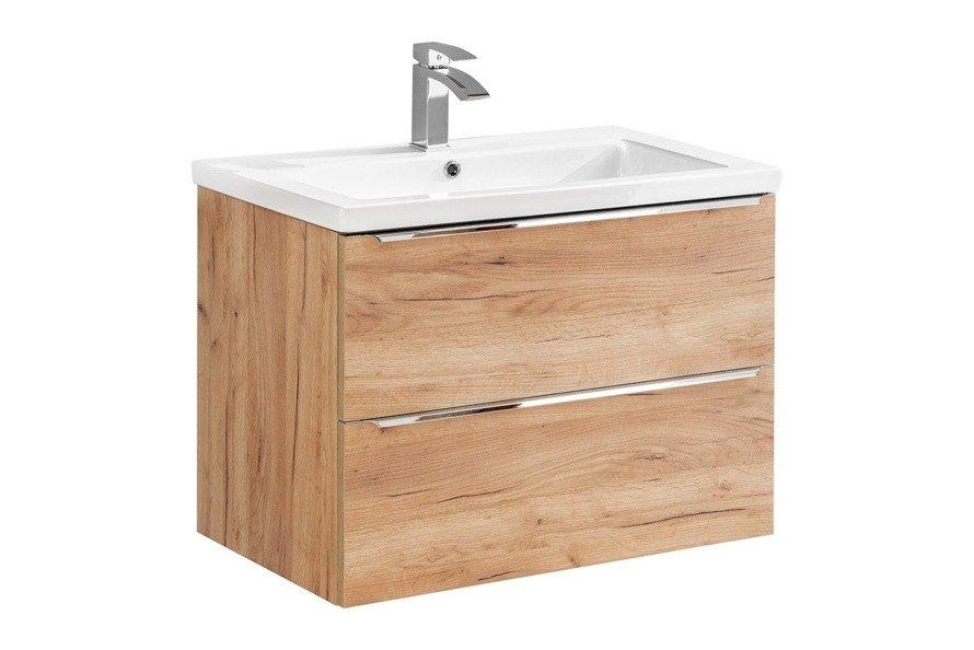Szafka z umywalką 80 cm Capri dąb 821