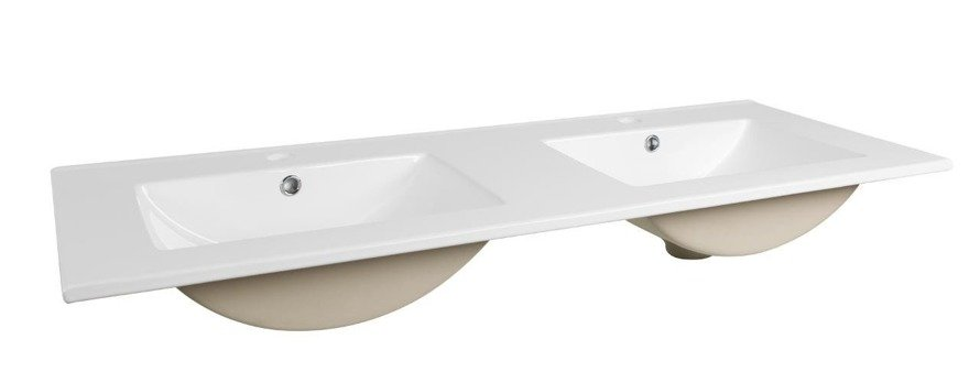 Szare meble łazienkowe z podwójną umywalką 120 cm Galaxy Grafit