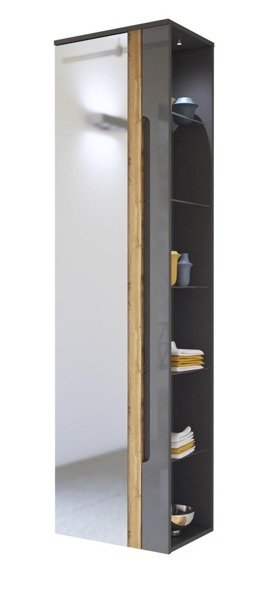 Witryna łazienkowa z lustrem Galaxy Grafit