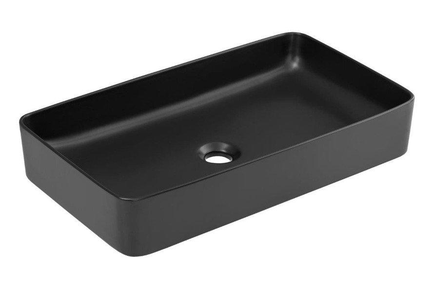 Zestaw mebli łazienkowych 100 cm Manhattan z czarną umywalką nastawną