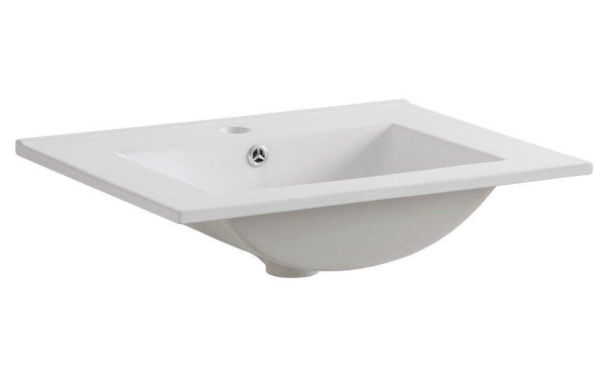 Zestaw mebli łazienkowych 60 cm z koszem Bali Biały