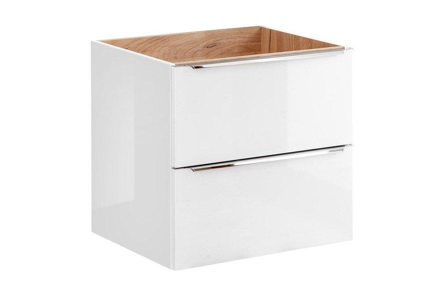 Zestaw mebli łazienkowych 80 cm Capri biały z blatem dębowym