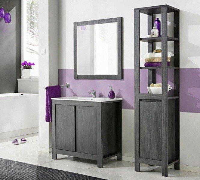Zestaw mebli łazienkowych Classic Grafit 80 cm