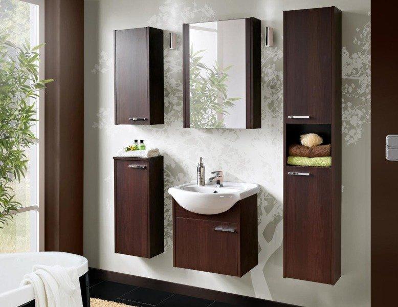 Zestaw mebli łazienkowych New York Wenge